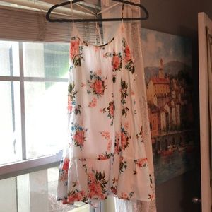 White floral sundress